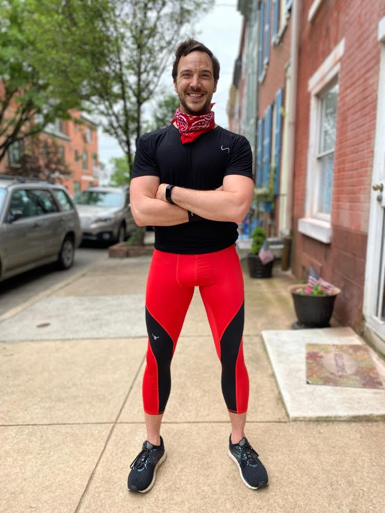Man smiling in Meggings