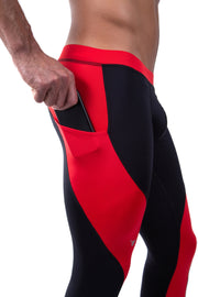 Black/Red Meggings (Drawstring)