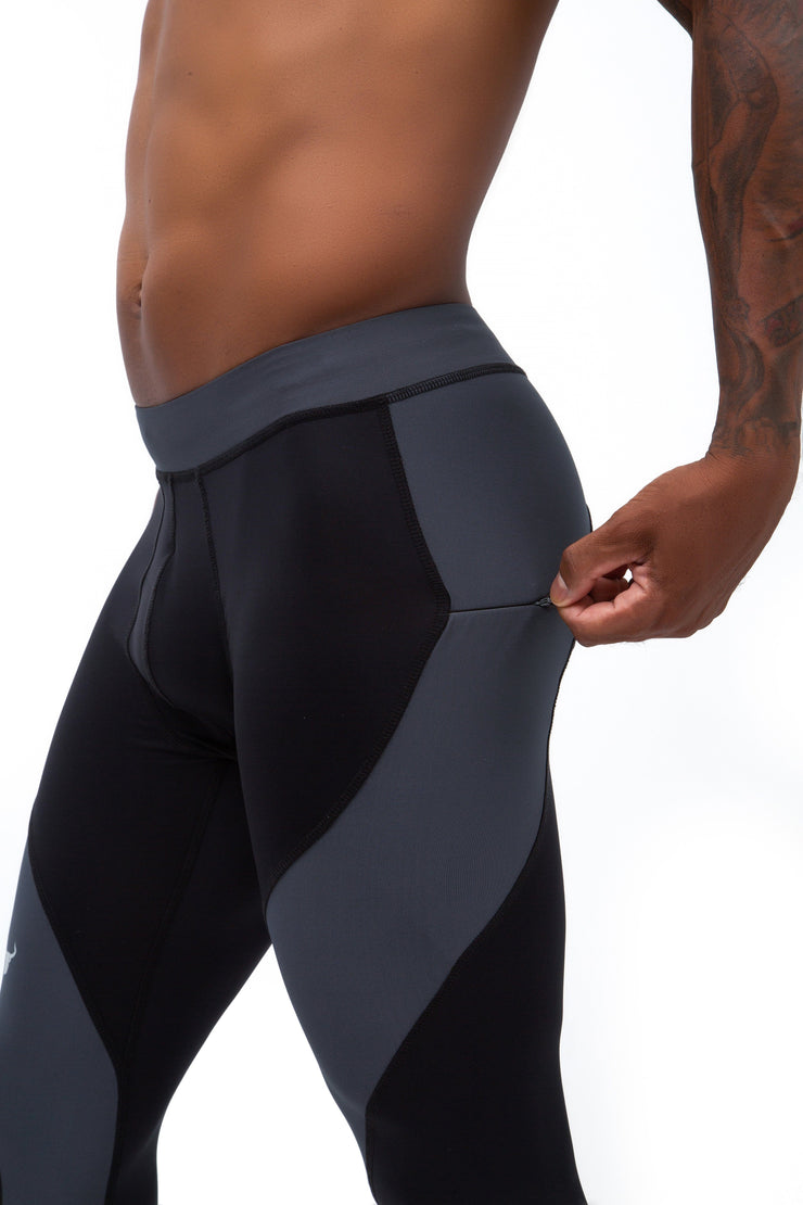 Black/Gray Meggings