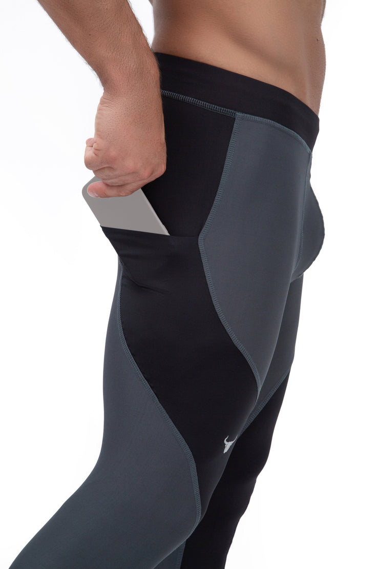Gray/Black Meggings