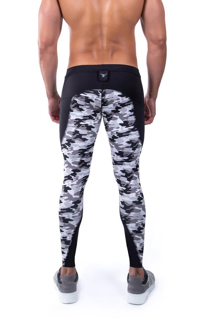 Gray Camo Meggings (Drawstring)