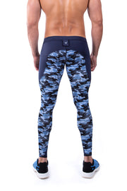 Blue Camo Meggings (Drawstring)