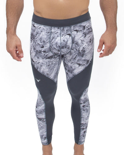 gray oyster men's performance leggings