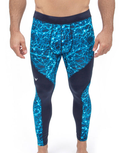 men's blue lighting meggings