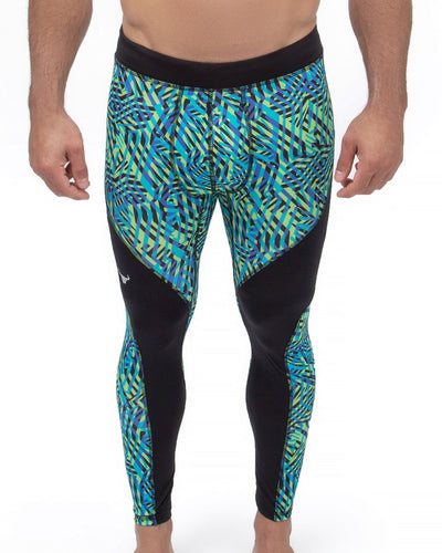 labyrinth compression pants for men