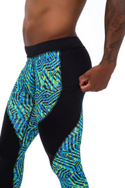 men's labyrinth performance workout leggings