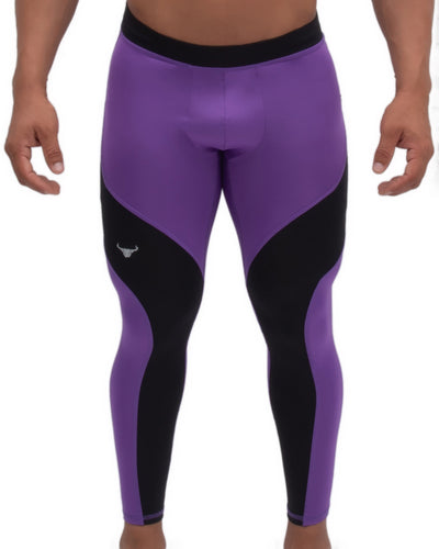 Purple/Black Meggings