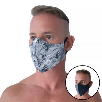 Oyster/Gray Reversible Face Masks