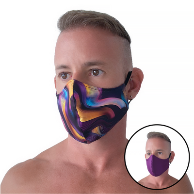 Psychedelic/Purple Reversible Mask