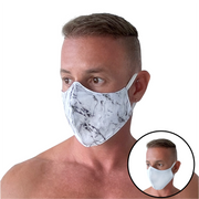 Marble/White Reversible Mask