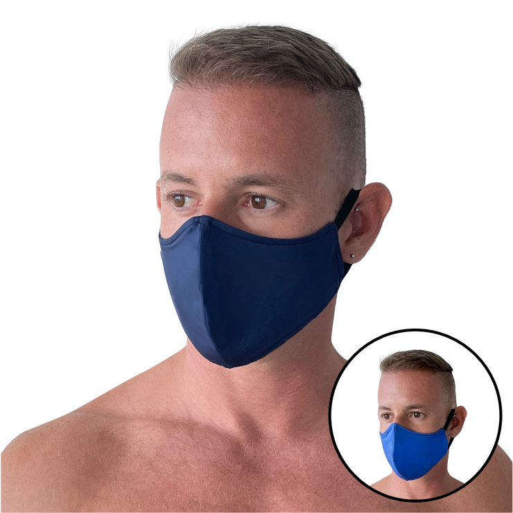 Navy/Blue Reversible Mask