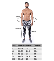 men's leggings size chart