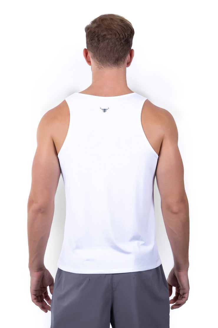 Silky Tank - White - Matador Meggings