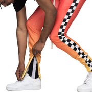 Orange/Yellow Checker Joggers - Matador Meggings