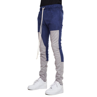 Navy/Gray Suede Joggers - Matador Meggings