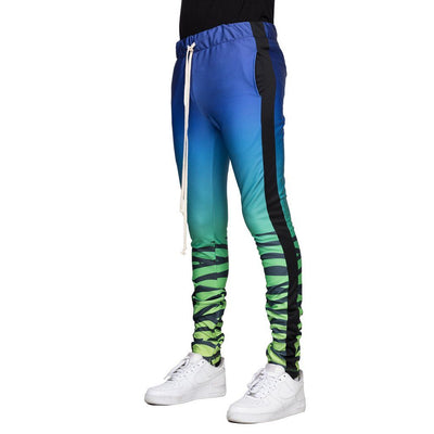 Blue/Lime Tiger Joggers - Matador Meggings
