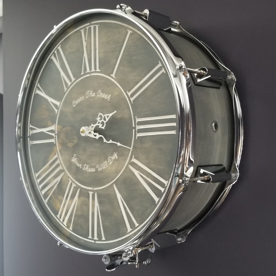 Funky Upbeat Designs Snare Clock