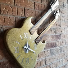 Load image into Gallery viewer, Double Neck Guitar Clock