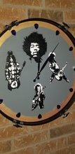 "Load image into Gallery viewer, 22"" Ultimate Guitar Legends Bass Drum Clock"