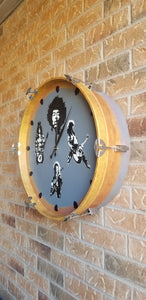 "22"" Ultimate Guitar Legends Bass Drum Clock"
