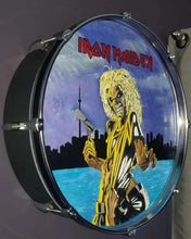 "Load image into Gallery viewer, 22"" Iron Maiden Drum Wall Art"