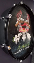 "Load image into Gallery viewer, 22"" Metallica Drum Wall Art"