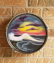 "Load image into Gallery viewer, 13"" Drum Wall Art- Midnight Beach"