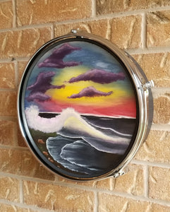 "13"" Drum Wall Art- Midnight Beach"