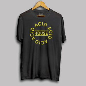 Acid House Circle Logo Mens T Shirt
