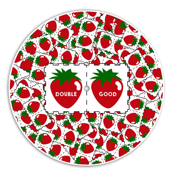 Double Strawberry Acid DJ Slipmat