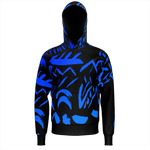 A Tribe (Black & Blue) by HoneyChrome Pullover Hoodie