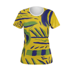 Blue Ribbon by HoneyChrome Women's All Over Print Tee