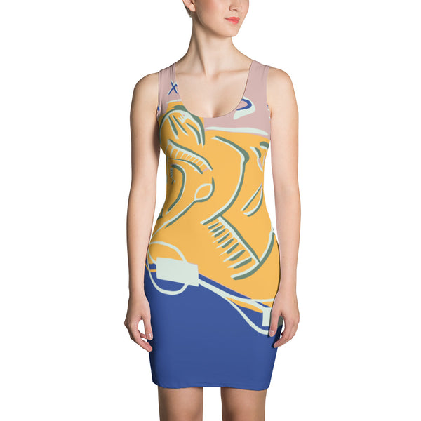 Energy Transfer by HoneyChrome All-Over-Print Dress
