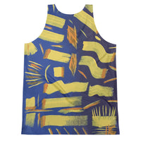 Starting by HoneyChrome Men's All-Over-Print Tank Top