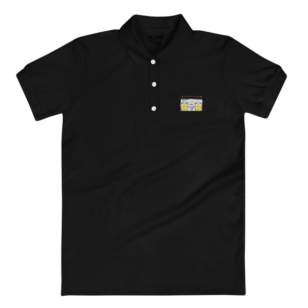 Lemon, No Lemon by Robots of Brooklyn Embroidered Women's Polo Shirt