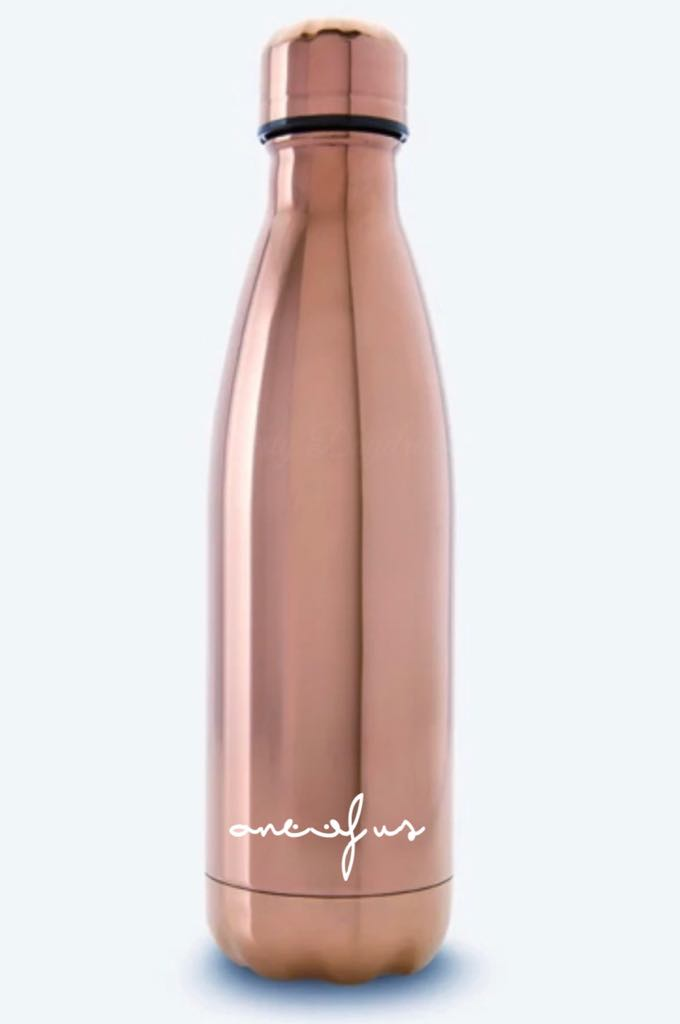 STYLISH STAINLESS STEEL ROSE GOLD BOTTLE 250ml