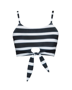 MALIBU CROP TOP | STRIPE B&W