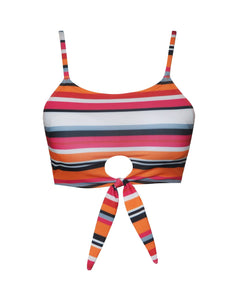 MALIBU CROP TOP | STRIPE TECHNICOLOR