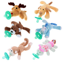 Load image into Gallery viewer, Lovely Infant Pacifiers with Plush Animal