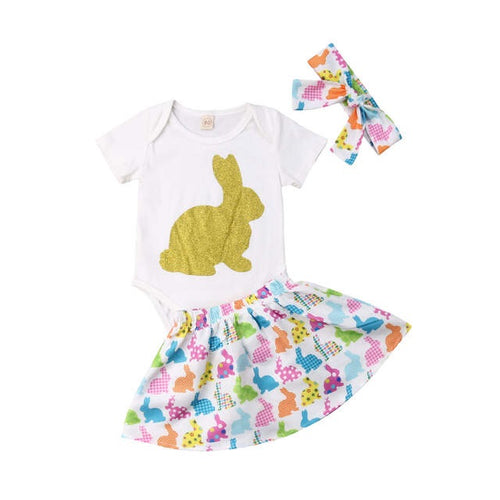 Golden Bunny Onesie Set