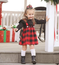 Load image into Gallery viewer, Plaid Strap Dress Set
