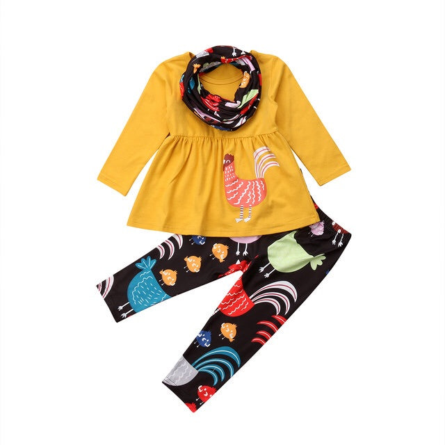 Happy Turkey Set (Shirt + Pant + Scarf)
