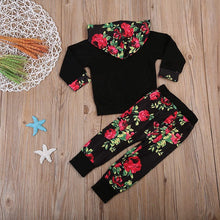Load image into Gallery viewer, Black Floral Winter Set