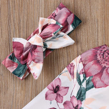 Load image into Gallery viewer, Autumn Floral Dress + Headband 2pcs