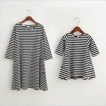 Load image into Gallery viewer, Striped Long Sleeve Dress (mommy & me)