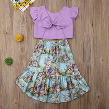 Load image into Gallery viewer, Purple Floral Summer Dress