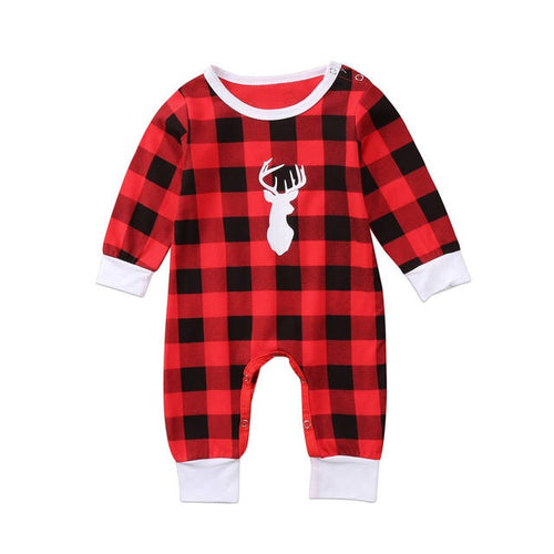 Plaid Deer Onesie