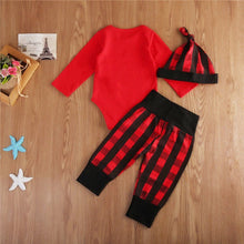 Load image into Gallery viewer, Little Man Red Plaid Onesie Set
