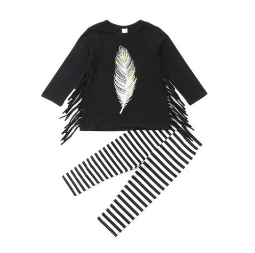 Black Feather Winter Set