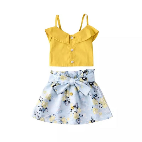 Yellow Floral Summer Set
